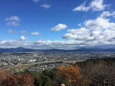 Views at the top of Arashiyama Monkey Park