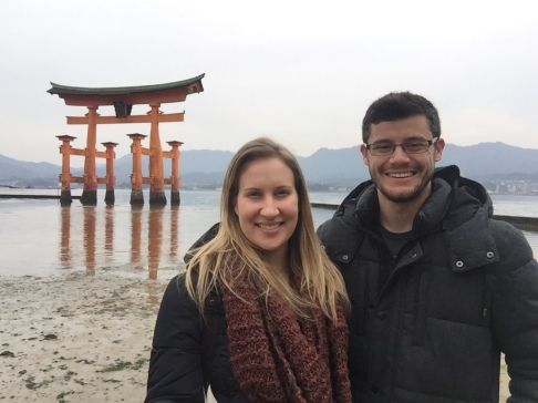 Us in front of the Great Torii