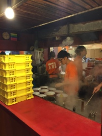 Cooks at the ramen shop