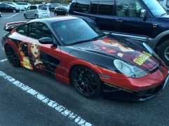 Only in Japan would there be a Porsche 911 with an anime livery