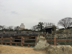 Outside the entrance to Himeji Castle