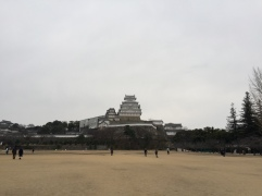 On the grounds of Himeji Castle