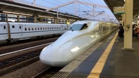 Our N700 Series Shinkansen arriving