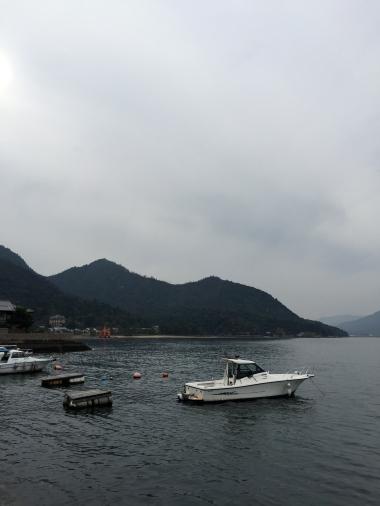 The shoreline of Miyajima Island